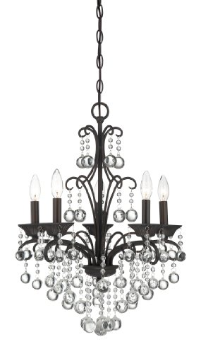 Quoizel QMC1199FR Carrabelle 5 Light 18-Inch Diameter Chain Hung Chandelier