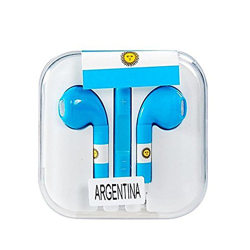 Vamvaz Fashion World Argentina Flag Design 3.5Mm Volume Controllable In-Ear Earphone With Microphone For Iphone 4 4G 4S 5 5S 5C Ipad 2 Mini 5 Air Ipod