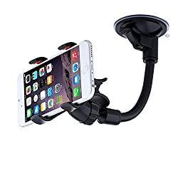 Virtuous*car Mount Holder,universal Long Arm/360 Degree Rotation Dashboard Car Phone Holder,lazy Bracket Mobile Stand for Phones Iphone 6s Plus 5s 5c 5 4s,samsung Galaxy S5/4/3 Note4/3,htc&gps Black Clip