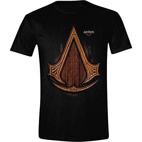 assassins-creed-carved-icon-herren-t-shirt-schwarz-grosse-small
