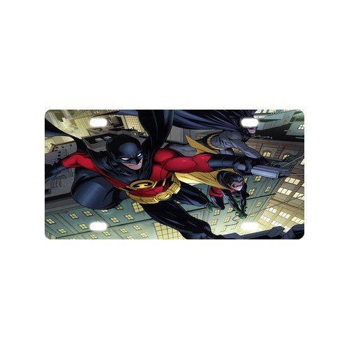 best-personalized-custom-comics-batman-and-red-robin-metal-license-plate-for-car-tag-fashion-durable