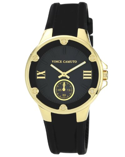 Vince Camuto - VC/5078BKBK - Montre Femme - Quartz Analogique - Bracelet Résine Noir