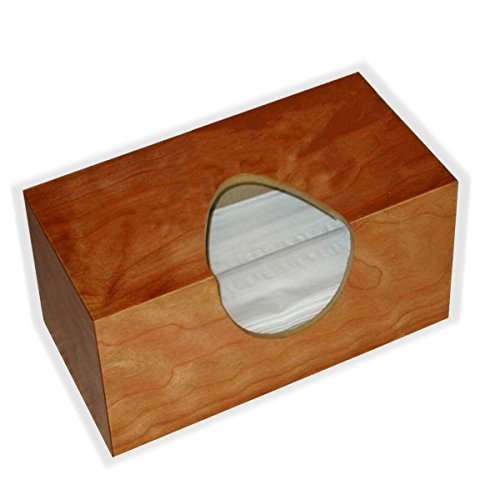Wooden Tissuecover American Cherry Figure Veneer Rectangular Family Size. (Puffs Opening Wihout Bottom) (Cherry Shaped Air Freshener compare prices)