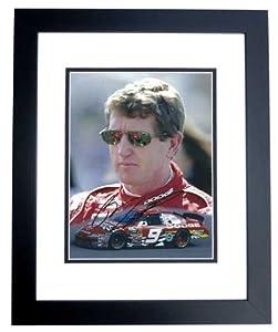 Bill Elliott Autographed Hand Signed Racing 8x10 Photo - BLACK CUSTOM FRAME by Real Deal Memorabilia