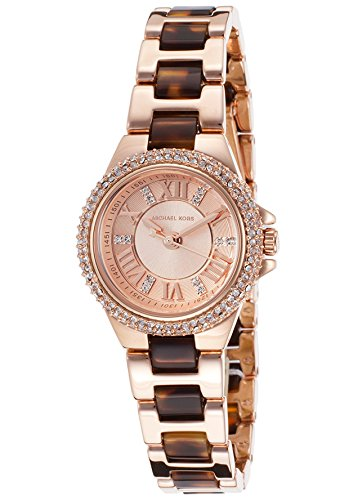 Michael Kors Petite Camille Rose Dial Rose Gold-tone and Tortoise-shell Acetate Ladies Watch MK4289