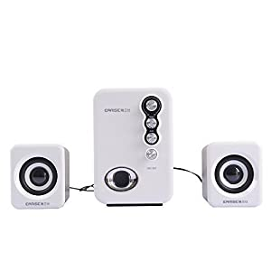Amazon.com: Earise Q8 2.1 USB Computer Speakers System, 3.5mm (White): Computers & Accessories
