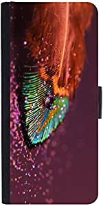 Snoogg Peacock Feather Dropsdesigner Protective Flip Case Cover For Samsung G...