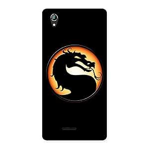 Stylish Mortal Black Back Case Cover for Lava Iris 800