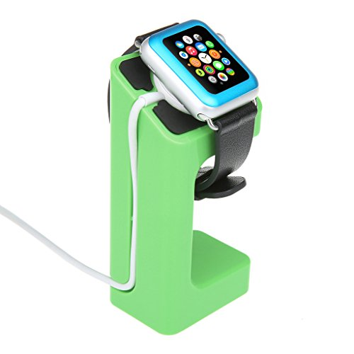 EasySMX Apple Watch Stand Charging Stand Bracket Docking Station Stock Cradle Holder for Both 38mm and 42mm (Green)