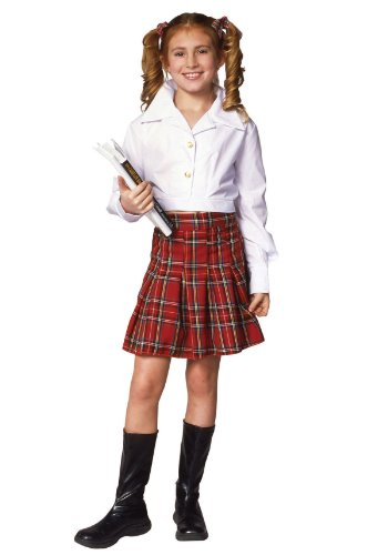 School Girl Top & Skirt Child Costume