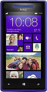 HTC Windows Phone 8X Smartphone (10,9 cm (4,3 Zoll) Super LCD Touchscreen, 1,5 GHz Dual-Core-Prozessor, 1 GB RAM, 8 Megapixel Kamera, 16 GB interner Speicher, NFC-fähig, Windows Phone 8 OS) blau