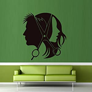 Amazon.com - Wall Decal Decor Decals Sticker Art Salon Beauty Hair ...