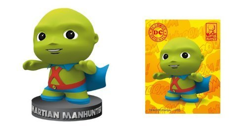 DC Comics Little Mates Martian Manhunter Figurine And Puff Sticker