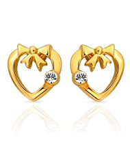 Mahi Eita Collection White Gold Plated Crystal Stones Stud Earrings For Women-ER1103694G