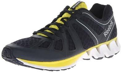 Reebok Men's Zigkick Dual Running Shoe,Reebok Navy/Pure Silver/Ultimate Yellow/White/Black,7.5 M US