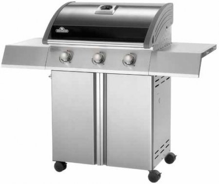 "SE410NK SE Series 50"" Freestanding Natural Gas Grill 3 SS Bottom Tube Burners 550 sq. Inches of Total Cooking Surface JETFIRE Ignition System: Stainless Steel Black Porcelain Enamel"