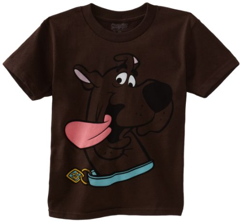 Scooby Doo Little Boys' Big Face Tee, Dark Chocolate, 7 front-815673