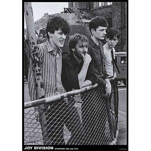 (24X33) Joy Division (Group At Fence) Music Poster Print