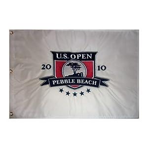 2010 U.S. Open (Pebble Beach Embroidered) Golf Pin Flag - Graeme McDowell Champion by PalmBeachAutographs.com