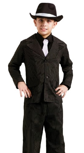 Fun World Kids Gangster Capone Pinstripe Suit Halloween Costume