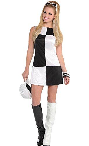 [HalloCostume Adult Mod Girl 60s Costume] (60s Mod Girl Costumes)