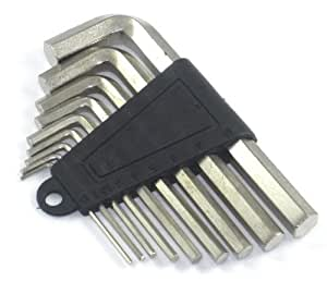 Hex key allen wrench 9 set size 1 5 2 2 5 3 4 5 6 7 8 9 10 for Gardening tools quizlet