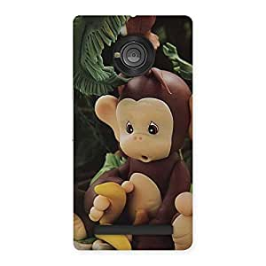 Cute Toy Monkey Multicolor Back Case Cover for Yu Yuphoria