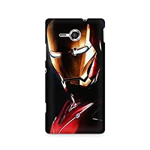 Mobicture Metal Superhero Premium Printed Case For Sony Xperia SP M35H