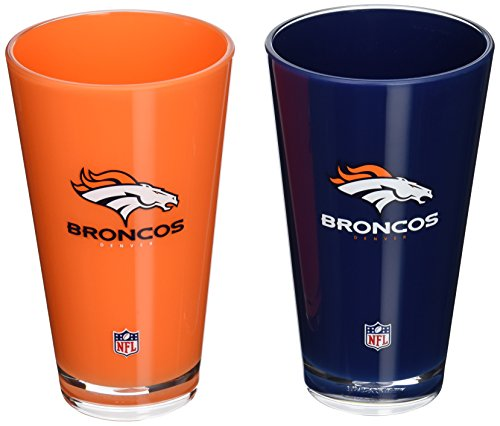 NFL Denver Broncos 20-Ounce Insulated Tumbler - 2 Pack