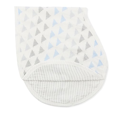 aden + anais Silky Soft Burpy Bib, blue moon Birch