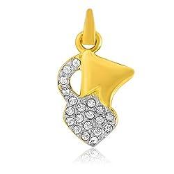 Mahi White GP CZ Stone Capricorn Horoscope Pendant For Men&Women-PS1101440G