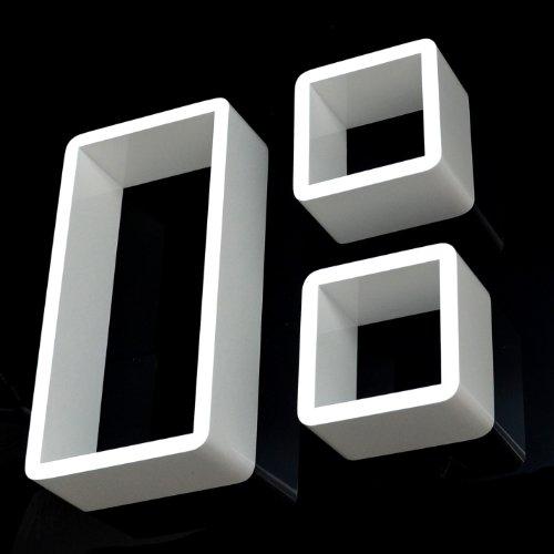 Juego de 3 estanter�as en forma de cubo con dise�o retro 70s en blanco