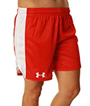 Womens Under Armour Trophy 5 Short, Red/White/Red , L