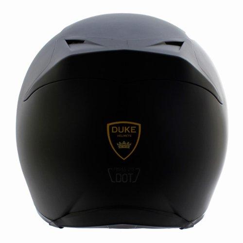 Duke Matte Black Full Face Motorcycle Helmet DK-120 +Free ...