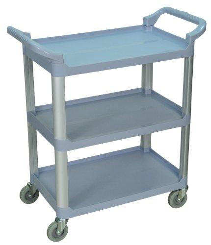 LUXOR SC12-G 3-Shelf Serving Cart, 36.75