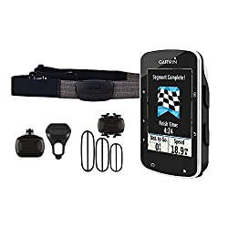 Garmin 010-01369-00 Edge 520 GPS Bike Computer with HR Monitor and Speed Sensor, Standard (Black)
