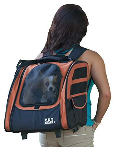 Pet Gear I-GO2 Traveler Roller Backpack for cats and dogs, Copper