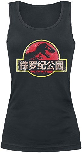 Jurassic Park Chinese Logo Top donna nero S