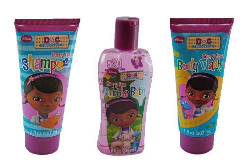 Doc McStuffins Bath Gift Set - Bubble Bath, Body Wash, Shampoo - 1