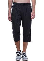Seaboard 3/4th Dark Grey Capri For Men