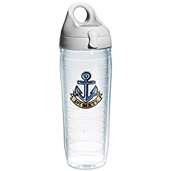 Tervis 1st Mate Anchor Emblem Bottle with Grey Lid, 24-Ounce, On The Water