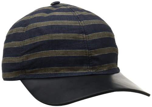 Marc-Jacobs-Mens-Striped-Cap-with-Leather-Bill
