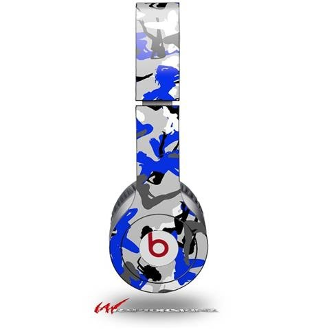 Sexy Girl Silhouette Camo Blue Decal Style Skin (Fits Genuine Beats Solo Hd Headphones - Headphones Not Included
