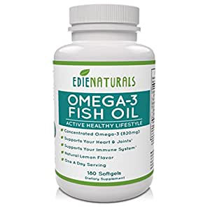 Edie naturals omega 3 fish oil supplement 1250 for Non fish omega 3