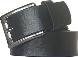 Sondagar Arts Men's Belt (SAB72_Black_40)