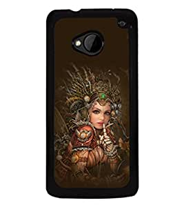 printtech Robot Fairy Girl Design Back Case Cover for HTC One M7::HTC M7