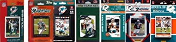 NFL Miami Dolphins 7 Different Licensed Trading Card Team Sets by C&I Collectables