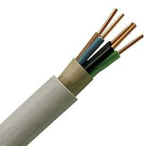 Kopp 153025000 Mantel-Leitung NYM-J, 5 x 1.5 mm², 25 m, grau
