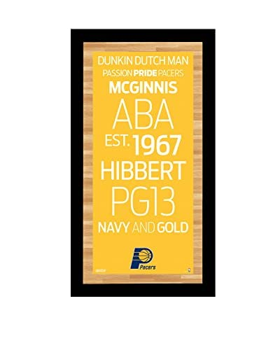 Steiner Sports Memorabilia Indiana Pacers Subway Sign, 20 x 10