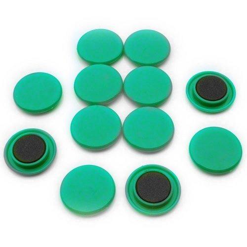 Magnet Expert Ltd Planmagneten zum Planen für Kühlschrank / Büro, 40 x 8mm, groß, Grün, 12 Stück